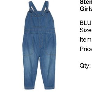 Stem denim overall